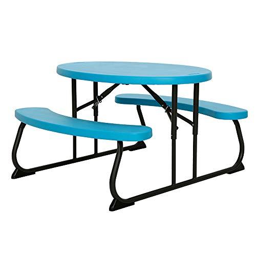 LIFETIME 60229 Kids Oval Picnic Table, Glacier Blue
