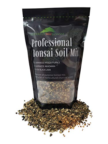 """Bonsai Soil Mix - Premium Professional, All Purpose, Sifted and Ready to Use Tree Potting Blend in Easy Zip Bag - Akadama, Black Lava, Pumice & Charcoal -""""Boons Mix"""" (1.25 Quart)"""