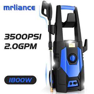 mrliance 3500PSI Electric Pressure Washer, 2.0GPM Electric Power Washer High Pressure Washer with Spray Gun, Brush, and 4 Quick-Connect Spray Tip