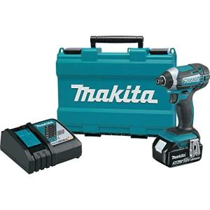 Makita XDT111-R 18V LXT 3.0 Ah Cordless Lithium-Ion 1/4 in. Hex Impact Driver Kit (Renewed)