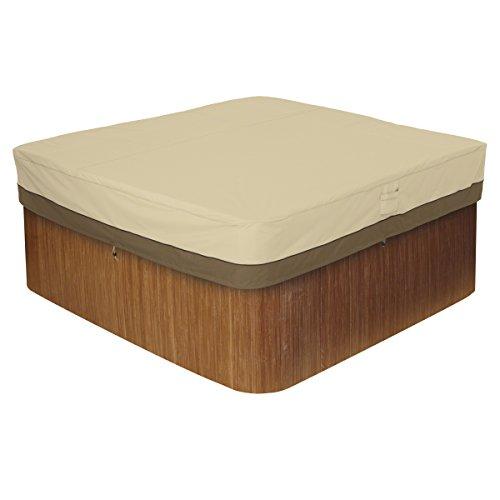 Classic Accessories Veranda Water-Resistant 86 Inch Square Hot Tub Cover