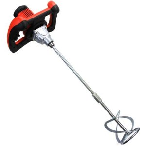 XtremepowerUS 1600W Handheld Electric Cement Mixer for Mortars Concretes Grouts Hand Held Adjustable Speed UL CUL