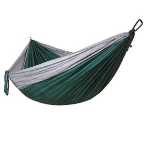 BXzhiri Outfitters Hammock Camping Double & Single with Tree Straps Indoor Outdoor Backpacking Survival & Travel, Portable