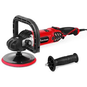 Avid Power Buffer Polisher, 12 Amp 7-Inch Variable Speed Car Buffer Polisher with Two Detachable Handles and One Wool Pad, Ideal for Car Sanding, Polishing, Waxing, Sealing Glaze