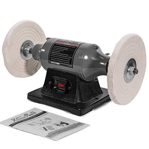 "XtremepowerUS 8"" inch Electric Polisher Benchtop Buffer Grinder 3/4HP Motor Polishing Grinder Machine 3450 RPM"