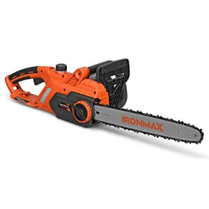 Goplus Corded Electric Chainsaw, 16-Inch 13 Amp Compact Chain Saw with Blade Cover, 340 ml Visible Oil Tank, Soft Handle, Automatic Oil Lubrication and Tool-Free Tension Chain System