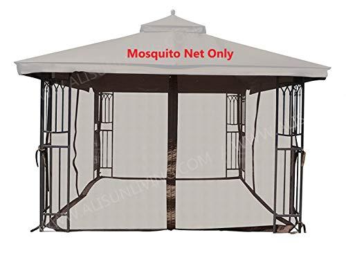 ALISUN Universal 12' x 12' Gazebo Mosquito Netting (Brown)