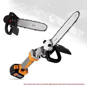 """Electric Chainsaw-11.5"""" Electric Chainsaw Polishing Machine Angle Grinder into Saw Chain Woodworking Tool"""