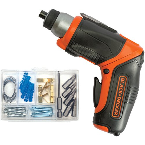BLACK+DECKER 4V MAX Cordless Screwdriver, Rechargeable (BDCS40BI)