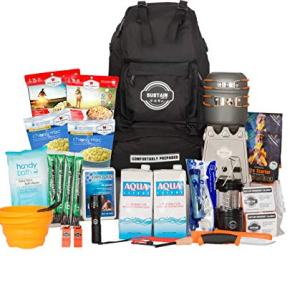 Sustain Supply Co. Premium Emergency Survival Bag/Kit – Be Equipped with 72 Hours of Disaster Preparedness Supplies for 2 People, Comfort2