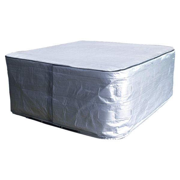 """hot tub Cover Cap 84"""" Lx84 Dx 35"""" H spa Cover Guard UV Resistant and Water Proof hot tub Sun Shield"""