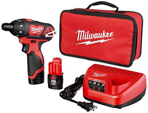 Milwaukee 2401-22 M12 12-Volt Lithium-Ion 1/4 in. Hex Screwdriver Kit