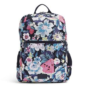 Vera Bradley Women's Recycled Lighten Up ReActive Grand Backpack, Garden Picnic, One Size