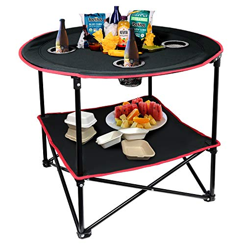 Portable Folding Picnic Table Outdoor Camping Table with Storage Bag