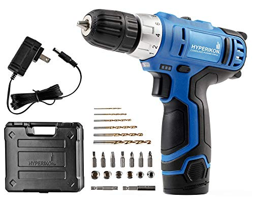 "Cordless Power Drill, 3/8"", 12V Lithium, Includes Driver Set and Project Kit"