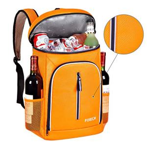 FORICH Soft Cooler Backpack Insulated Waterproof Backpack Cooler Bag Leak Proof Portable Small Cooler Backpacks to Work Lunch Travel Beach Camping Hiking Picnic Fishing Beer for Men Women (Orange)