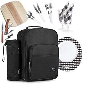 Plush Picnic - Picnic Backpacks (Two Person Black)
