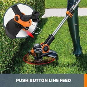 """Worx WG162 20V 12"""" Cordless String Trimmer/Edger, Battery and Charger Included Model: WORX"""