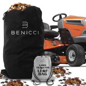 BENICCI Lawn Tractor Leaf Bag - Includes Speed Zipper for Fast Cleanup
