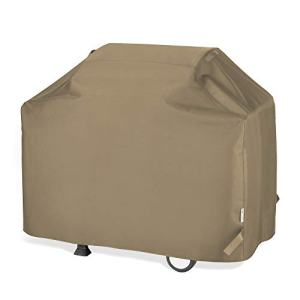 """Unicook BBQ Grill Cover 65 Inch, Heavy Duty Waterproof Outdoor Barbecue Gas Grill Cover with Sealed Seam, Rip and Fade Resistant, Fits Weber Charbroil Grills, 65"""" W x 24"""" D x 44"""" H, Neutral Taupe"""