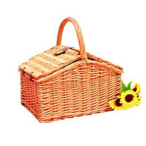 STARAYS Picnic Basket, 4 People Wicker Storage Box, Portable Storage Basket Set Camping Outdoor Trip, 45 35 25CM