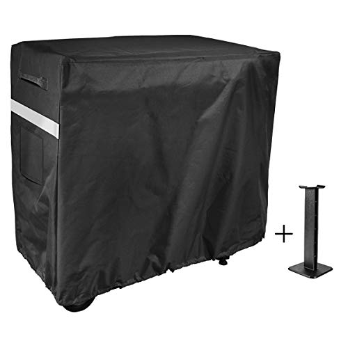 Utheer Grill Patio Cover Full Size for Camp Chef FTG600 Flat Top Grill, 600D Weather Resistant & Waterproof BBQ Cover with Support Pole to Prevent Water Leaking