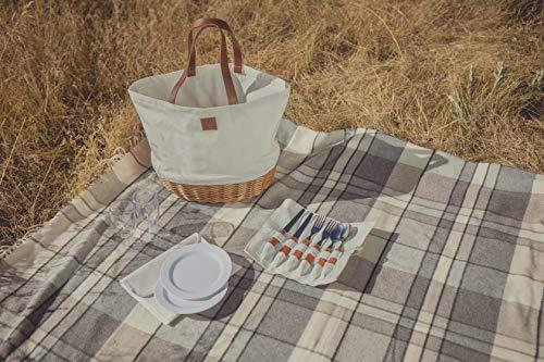 PICNIC TIME Promenade Picnic Basket, Canvas Guarantee: Lifetime