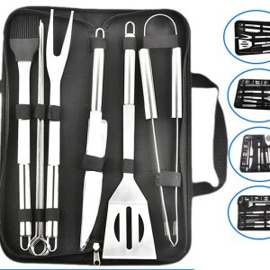 Stainless steel barbecue tool set combination outdoor BBQ kitchen stuff