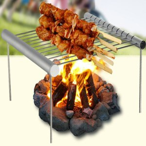 Barbecue Grill Family Outdoor Dinner Barbecue Grill Stainless Steel