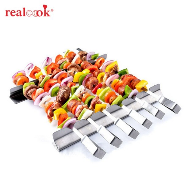 Stainless Steel BBQ Skewers Barbecue Fork