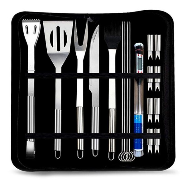 BBQ Tools Set Stainless Steel Grill Barbecue Utensil Set Case
