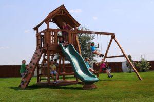 maverick, rock wall, picnic table, wooden swing set, swing set, swings, slide, swing set for kids, kids, children, play, playground, playset, sets, accessories, backyard swing set