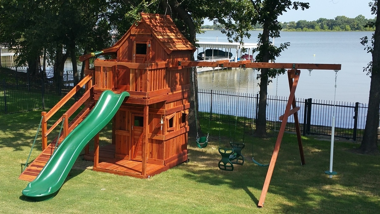 mustang, bell, air pogo, glider, ramp, cabins, wooden swing set, swing set, swings, slide, swing set for kids, kids, children, play, playground, playset, sets, accessories, backyard swing set