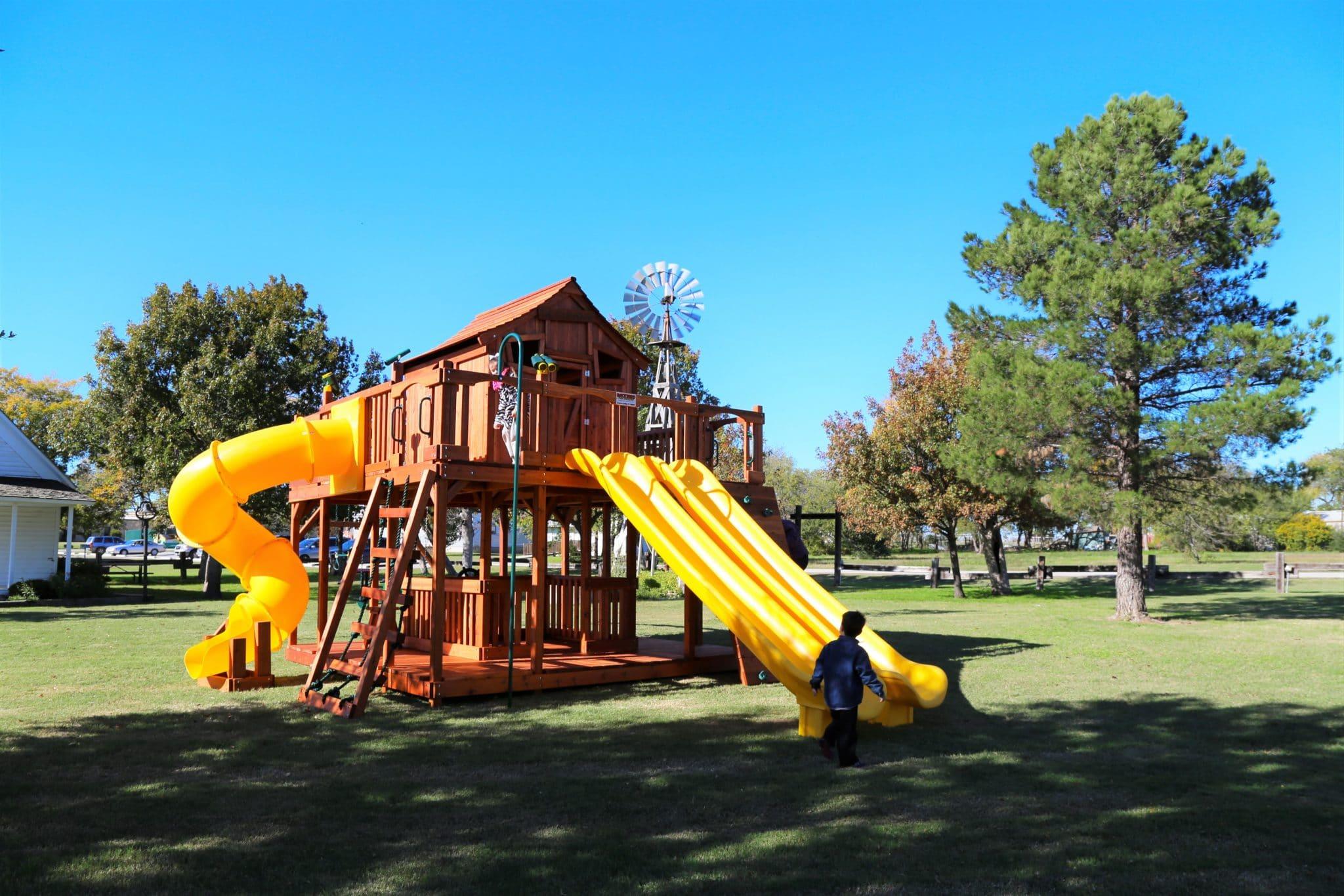 ticonderoga, fort, wooden playset, wood swing set, backyard swing set, custom playset