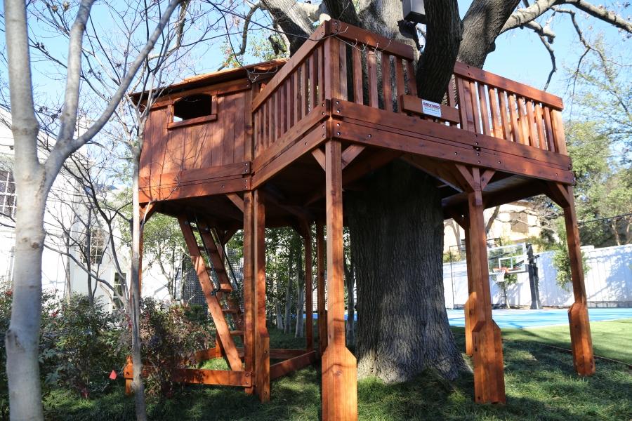 cabin, deck, fort stockton, tree deck, tree platform, outdoor playset