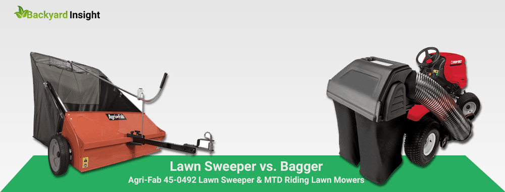 Lawn Sweeper vs. Bagger – Which One is Better?