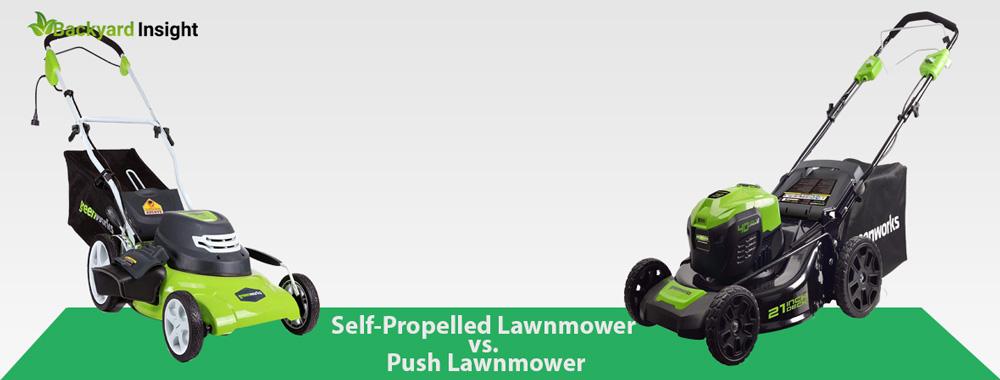 Self-Propelled Lawnmower vs. Push Lawnmower