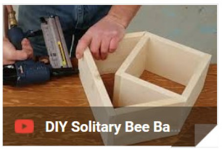 Leafcutter Bee Barn, Bee House, Bee Hotel - DIY assembly from pre-cut pieces