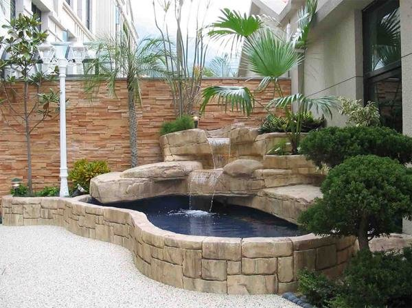 Build A Small Waterfall in garden