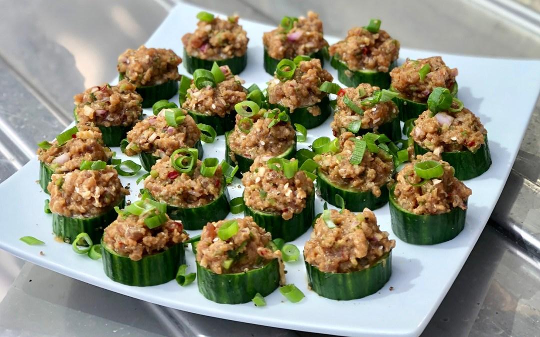 Tuna Tartare Cucumber Bites