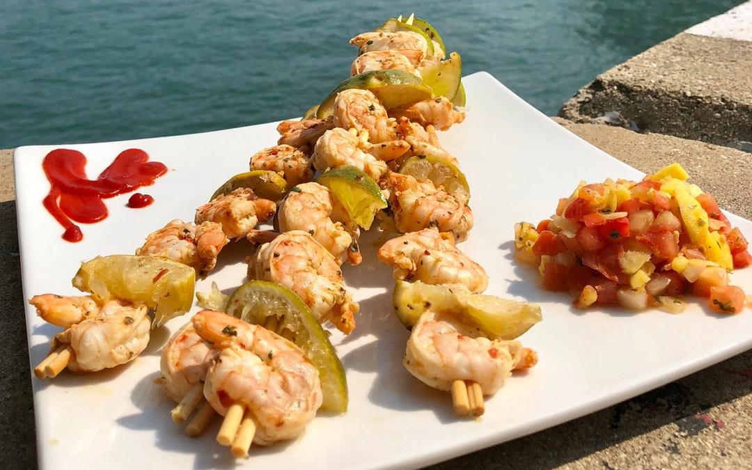Cilantro-Lime Stick Shrimp