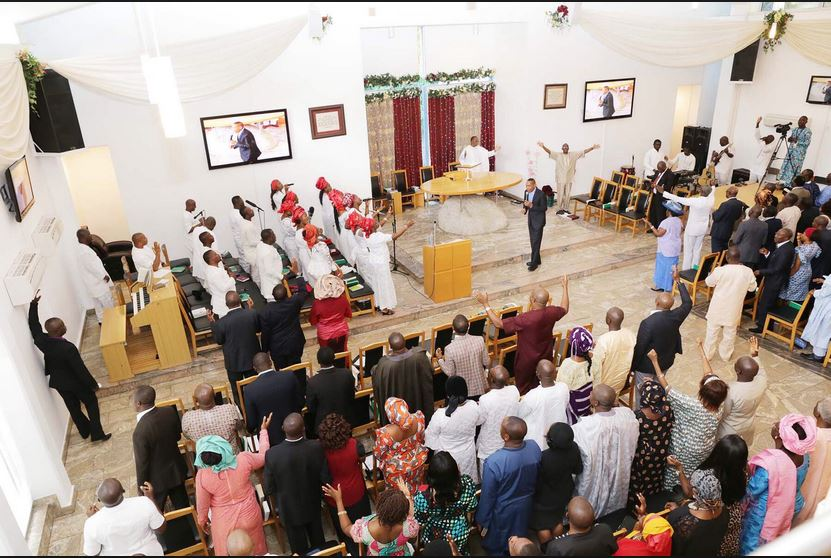 File photo: Worship in the Aso Villa Chapel