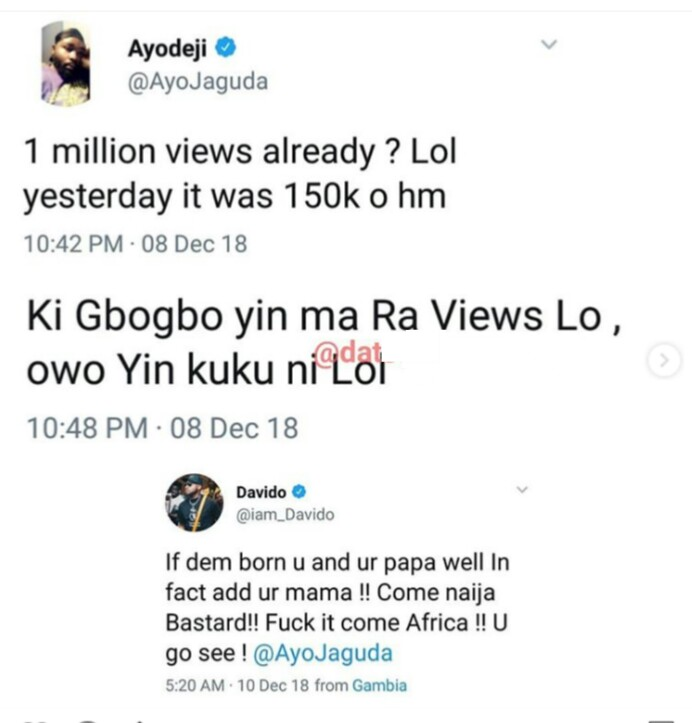 Olamide shades Davido for buying views on YouTube