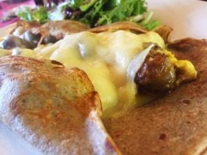 French Tart Crepe Merguez Close Up