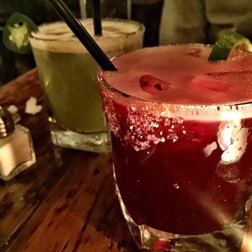 Maizal Hibiscus and Jalapeno Margaritas