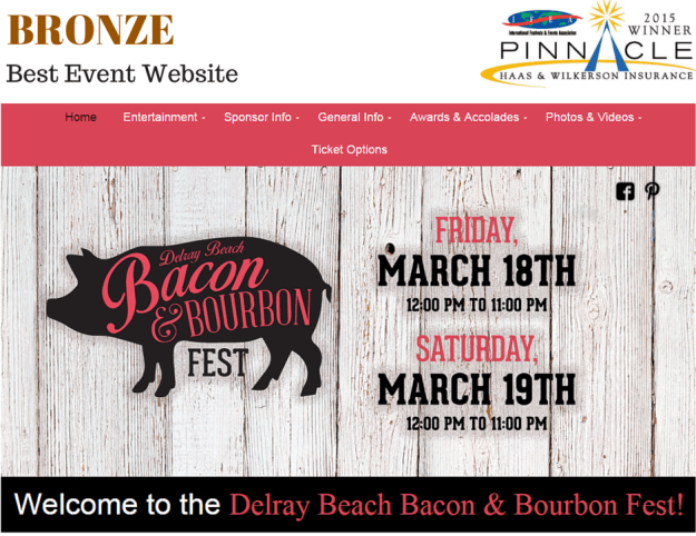 Bronze - Best Event Website - B&B
