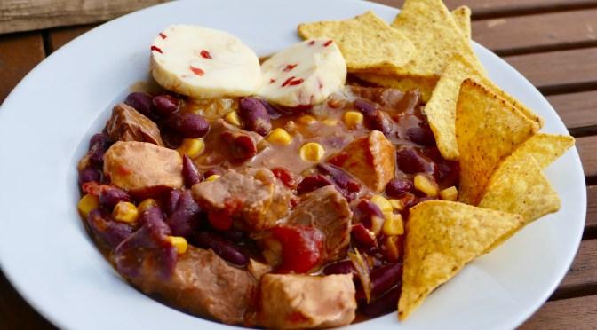 Chili Con Carne // Habanero + Taco Chips