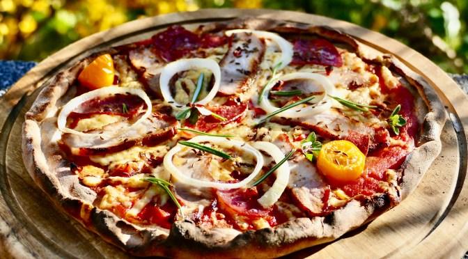 Rustikale Roggenvollkorn Pizza