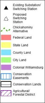 Table for conservation easements map