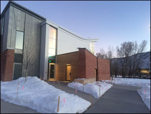Exterior shot of the Innovation Center. Photo credit: Rocky Mountain Institute